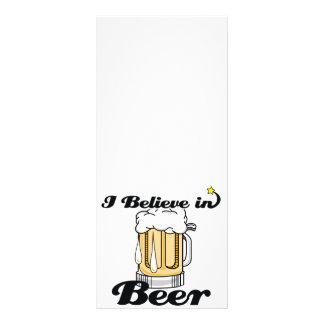 eu acredito na cerveja 10.16 x 22.86cm panfleto
