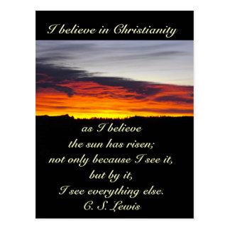 Eu acredito na cristandade, C S Lewis Cartão Postal
