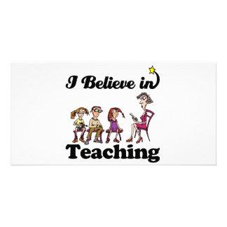 eu acredito no ensino cartao com fotos