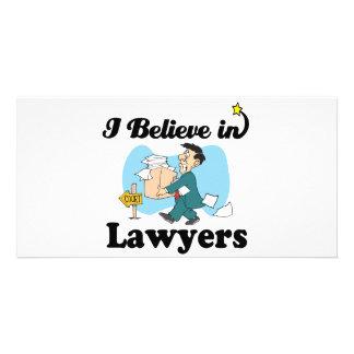 eu acredito nos advogados cartão com foto personalizado