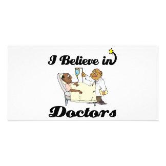eu acredito nos doutores cartoes com foto personalizados