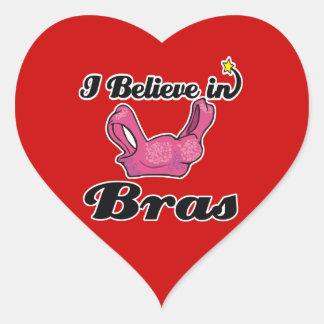 eu acredito nos sutiãs adesivo de coração