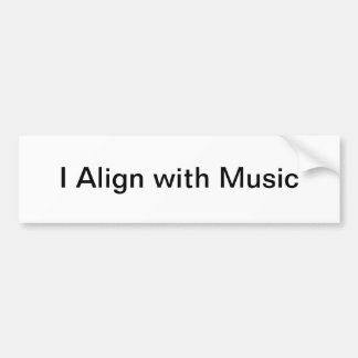 Eu alinho com a etiqueta da música adesivo para carro