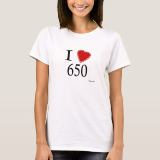 Eu amo 650 Redwood City Camiseta