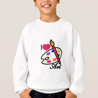 Eu amo a arte camiseta