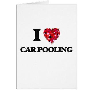 Eu amo a associação do carro cartão comemorativo
