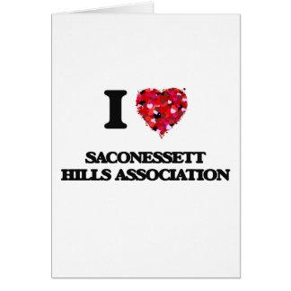 Eu amo a associação Massachusetts das colinas de Cartão Comemorativo