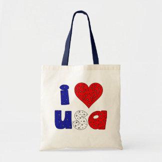 Eu amo a bolsa de canvas dos EUA