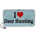 Eu amo a caça dos cervos caixinha de som de viagem