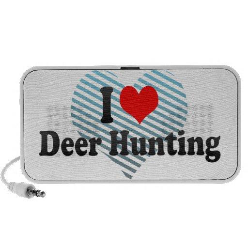 Eu amo a caça dos cervos caixinhas de som portátil