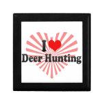 Eu amo a caça dos cervos estojo para jóias