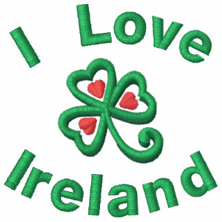 Eu amo a camisa bordada Ireland de T