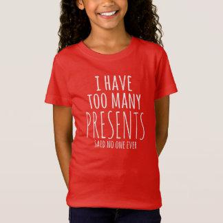 Eu amo a camisa do feriado T dos presentes T-shirts