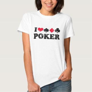 Eu amo a camisa do póquer t t-shirts