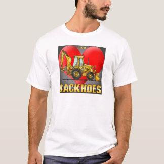 Eu amo a caneca de café dos Backhoes T-shirt