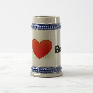 Eu amo a caneca de cerveja da cerveja