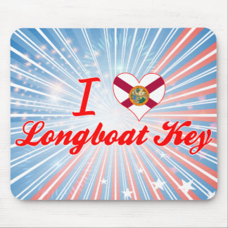 Eu amo a chave do Longboat, Florida Mousepads