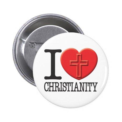 Eu amo a cristandade boton