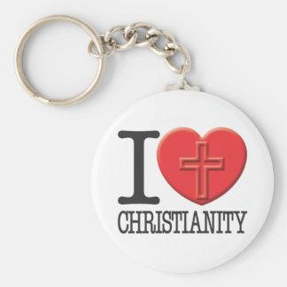 Eu amo a cristandade chaveiro