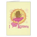 Eu amo a dança cartoes