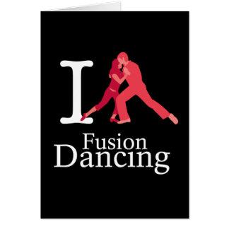 Eu amo a dança da fusão cartão