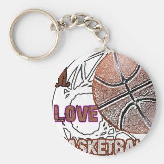 Eu amo a defesa do basquetebol! chaveiros