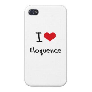 Eu amo a eloquência capa iPhone 4