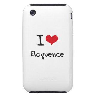 Eu amo a eloquência capa forte de iPhone 3