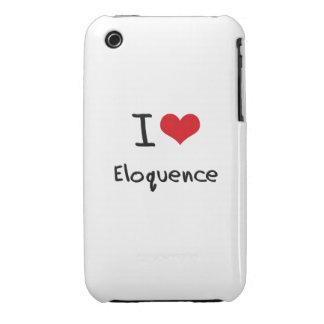Eu amo a eloquência capa iPhone 3