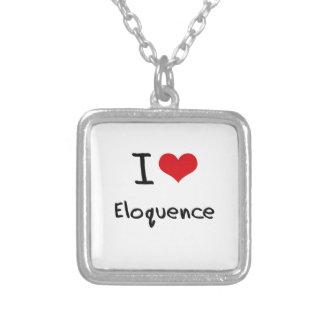 Eu amo a eloquência bijuterias personalizadas