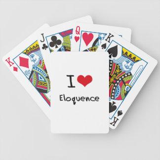 Eu amo a eloquência baralhos de pôquer
