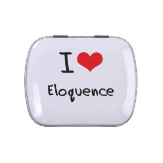 Eu amo a eloquência latinhas para personalizar