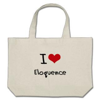 Eu amo a eloquência bolsa para compra