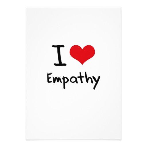 Eu amo a empatia convites
