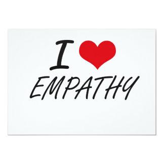 Eu amo a EMPATIA Convite 12.7 X 17.78cm