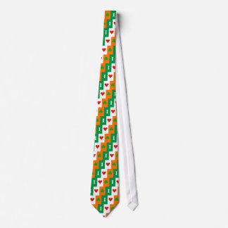 Eu amo a gravata da bandeira de Ireland dos trevos