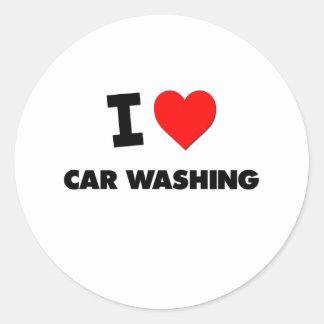 Eu amo a lavagem do carro adesivo