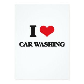 Eu amo a lavagem do carro convite personalizados