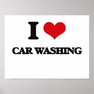 Eu amo a lavagem do carro posters