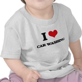 Eu amo a lavagem do carro camisetas