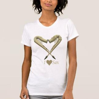 Eu amo a luz das senhoras da camisa do saxofone T Camiseta