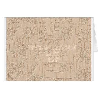 Eu amo a madeira Hakuna marrom indo Matata Cartão Comemorativo