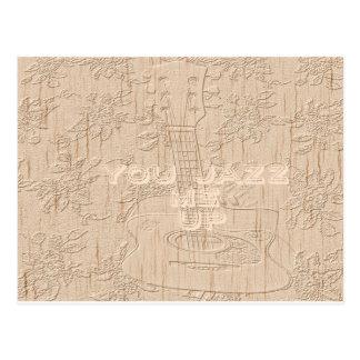 Eu amo a madeira Hakuna marrom indo Matata Cartão Postal