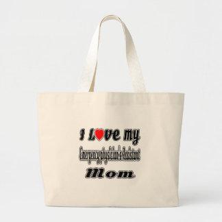 Eu amo a mamã assistente do meu médico da bolsas de lona