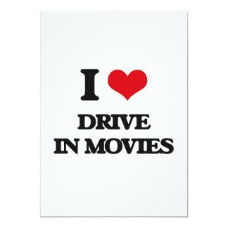 Eu amo a movimentação nos filmes convite 12.7 x 17.78cm