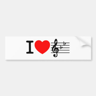 Eu amo a música adesivo para carro