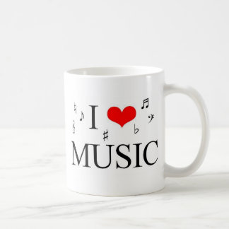 Eu amo a música caneca