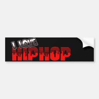 Eu amo a música de HIP HOP Adesivo Para Carro
