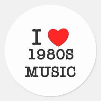 Eu amo a música dos anos 80 adesivo