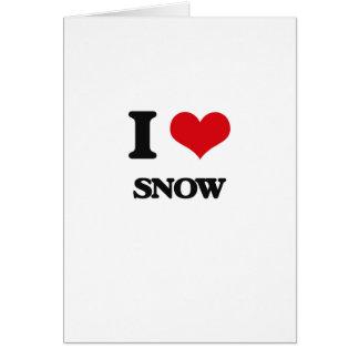 Eu amo a neve cartão comemorativo